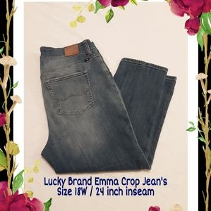 Lucky Brand 18W Cropped Jeans